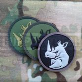 Mil-Spec Monkey Velcro Morale Patch Rhino Head PVC